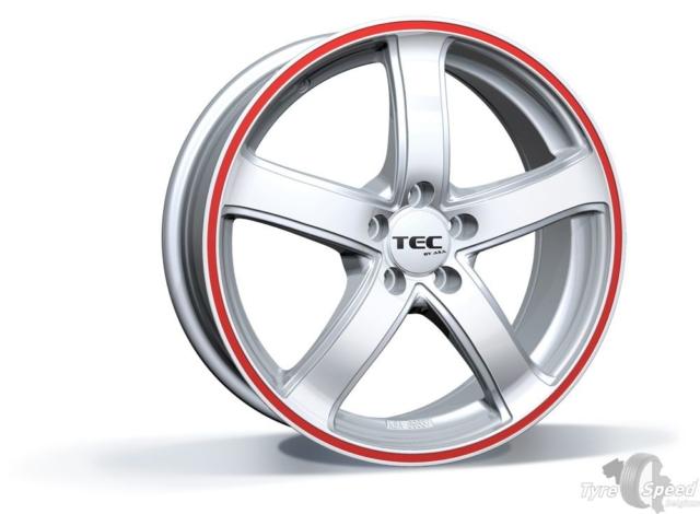 TEC_zilver-rood - Jante TyreSpeed Bruxelles