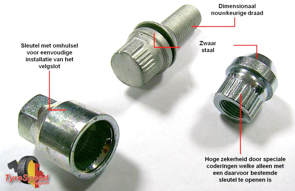 Sicurit - TyreSpeed-tuning Automotive Tuning wielvergrendeling ANTI-DIEFSTAL